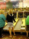 Skee Ball at the Arcade