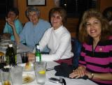Sandra, Joan, Susan and Sylvia at pre-ride dinner