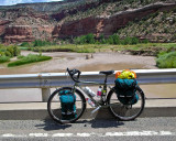 305    Shelly - Touring Colorado - Surly Long Haul Trucke touring biker