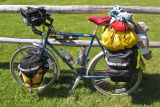 001  Judy - Touring through Montana - Steve Rex Touring touring bike