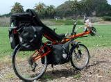 004  Michael - Touring through California - HP velotechnik Street Machine touring bike