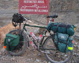 023  Steve -Touring through Oman - Giant Iguana touring bike