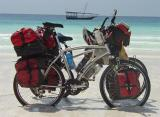 048  Pat & Cat - Touring through Zanzibar - Landrider Elite touring bike