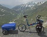 073  Ron - Touring Switzerland - Bike Friday New World Tourist touring bike