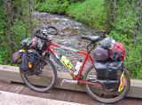 086  Paul - Touring through Montana USA - Jamis Dragon touring bike