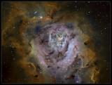 M8 HUBBLE PALETTE COLOR MAPPING