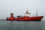 Antarctic research vessel
