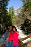 At bridge on Tenaya creek