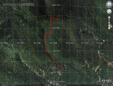 Green Mountain Hike on Google Earth Image
