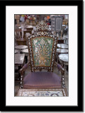 An Elaborately Decorated Chair