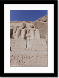 Statue of Ramses II and Nefertari from Low Perspective