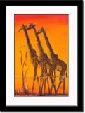 Baclklit Giraffe Painting