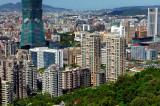 Overlook Taipei Citey From Elephant Mountain
