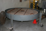 Tank used to remove silver coating of original mirror