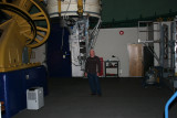 Me standing in front of the camera and spectrometer