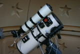 Intes MN74 Mak/Newt w/ Orion ED80mm guide scope.