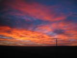 Sunset somewhere in North Dakota.