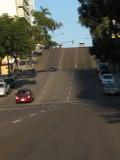 Hilly street of San Diego