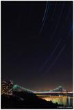 Star Trails Over The George Washington Bridge