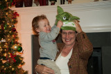 Julian Miriam Aidan Andy at Christmas Tree 12-09-2010