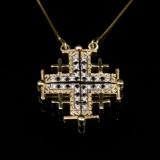 DSC_1469 Jerusalem Cross Gold Wh Bk Diamonds.JPG