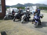 Impromptu Motorcycle Gang Raisin' Hell on the Alaska Highway