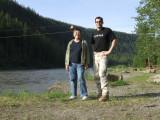 Midge and Me at Sikanni River