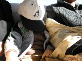 Quick nap on the way back to Leh.