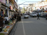 View of Leh's main bazaar, looking north.