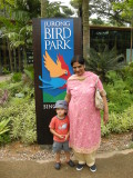 With Nani at Singapore's incredible Jurong Bird Park.