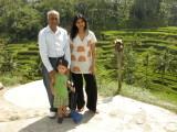 With Nanu and Ravina at an Ubud rice terrace.