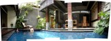 On to Seminyak!  Here's a view of the Bali Dream Villas there.