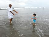 Rahil and Nanu at Seminyak beach