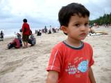 At Kuta beach.