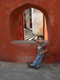 At Jantar Mantar (an ancient observatory)