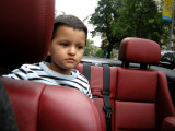 In Rahul Uncle's car on the way to a card game
