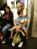 On the subway with Grandma