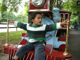 Riding the Look Park cowcatcher