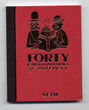 Forty Cartoon Books of Interest (2006) (inscribed with original drawing)