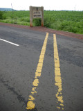 Where the Tropic of Cancer crosses the road.