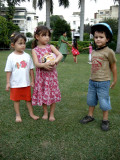 With friends Sophie and Aika