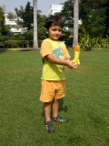 With a new toy -- water rocket