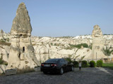View behind the Kelebeck hotel in Goreme.
