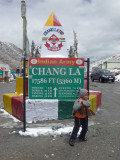 Atop Chang La (Chang Pass), 17,586' above sea level.