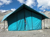 Pangong Tso tent.