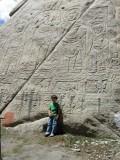 At the 8th century (?) Tathagata rock carvings near Shey.