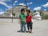 Rahil and friend at Tikse.