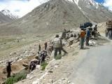 Road crew near Chang La