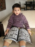 Rahil reading Peepshow