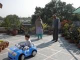 On the terrace with Nani and Nanu